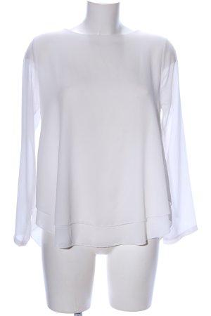 La Petite Parisienne Langarm-Bluse weiß Casual-Look