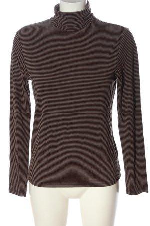 La Redoute Maglia a collo alto marrone-nero motivo a righe stile casual