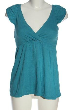 La Redoute Camisa con cuello V azul look casual