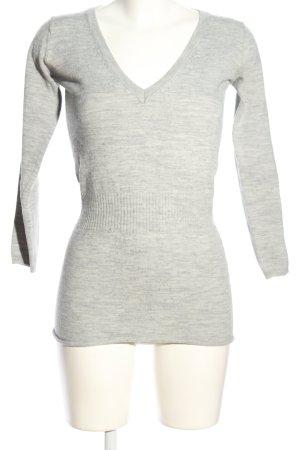 La Redoute V-Ausschnitt-Pullover hellgrau meliert Casual-Look
