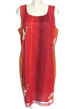 la rochelle Abito blusa rosso-arancione chiaro Colore sfumato stile casual