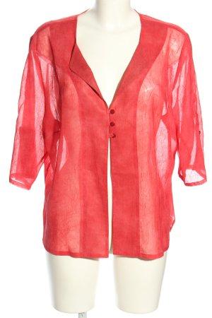 la rochelle Transparenz-Bluse rot Business-Look