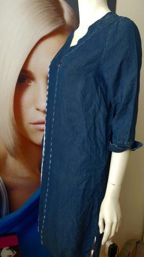 La Salle Tunic Dress cornflower blue modal fibre