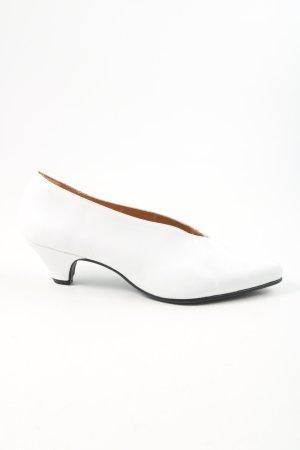 La Shoe Pumps met hoge zool wit elegant
