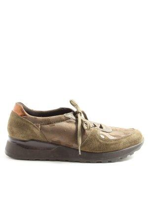 La Shoe Schnürsneaker braun Camouflagemuster Casual-Look