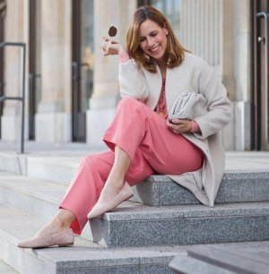 La Shoe Ballerinas with Toecap nude