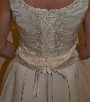 LA SPOSA Suknia ślubna kremowy-w kolorze białej wełny