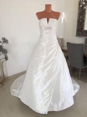 La Sposa Pronovias Brautkleid Hochzeitskleid mit Schleppe Gr. 38 Creme