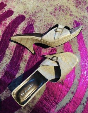 La Strada Designer Pantolette Neu Leder NP 129 41