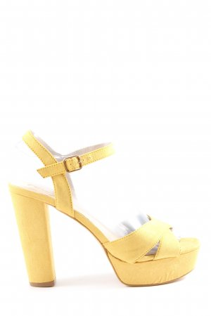 La Strada High Heel Sandaletten blassgelb Casual-Look