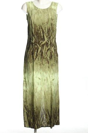 La Strada Maxikleid khaki abstraktes Muster Casual-Look