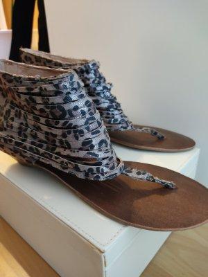La Strada High-Heeled Toe-Post Sandals multicolored