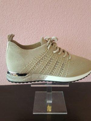 La Strada Sneaker knitted beige Gr 42