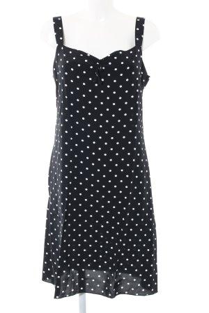 La Strada Trägerkleid schwarz-weiß Punktemuster Elegant