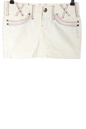 La Visione Denim Skirt white casual look