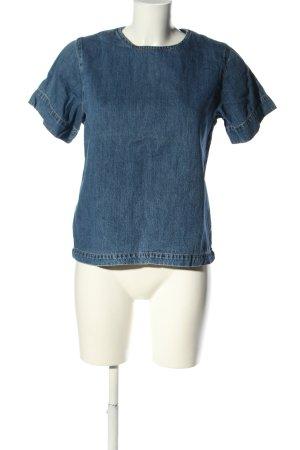LAB DIP Blouse en jean bleu style décontracté
