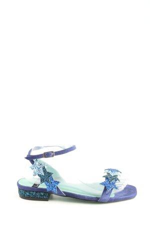 LAB Riemchen-Sandaletten blau Casual-Look