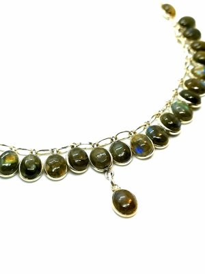 Silver Chain multicolored real silver