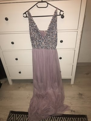 Lace&Beads Abendkleid Hochzeit Maxikleid Lila Rose