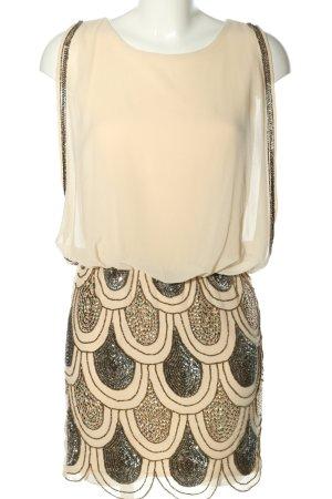 Lace & Beads Blusenkleid creme Glanz-Optik