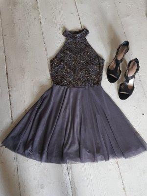 Lace & Beads Sequin Dress grey-dark blue
