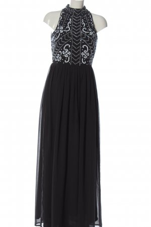 Lace & Beads Maxikleid schwarz grafisches Muster Elegant