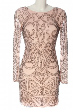 Lace & Beads Pailettenkleid nude Allover-Druck Casual-Look
