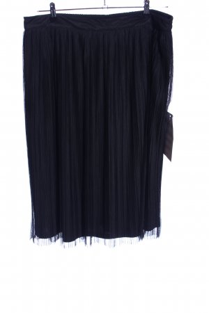 Lace & Beads Falda plisada negro elegante