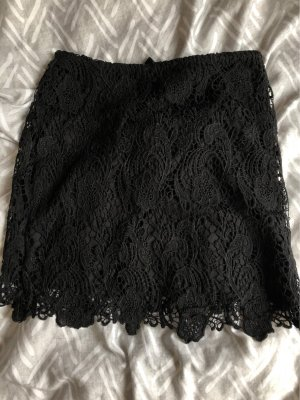 H&M Divided Koronkowa spódnica czarny