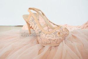 Lace Slingback High Heels