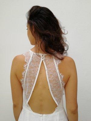 Nelly Koronkowa sukienka biały