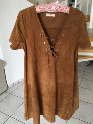 Leather Dress bronze-colored leather
