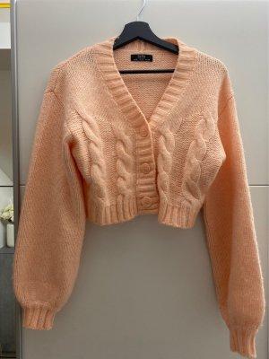 Bershka Szydełkowany sweter brzoskwiniowy