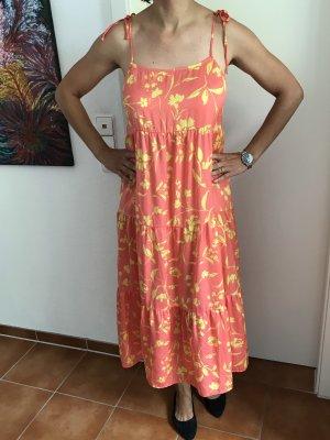 Lachs/ gelbes Träger Kleid