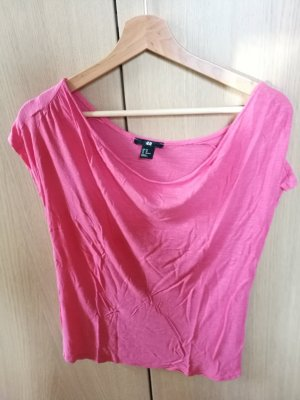 H&M Camicia oversize rosso chiaro-rosa