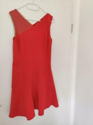 Lachsfarbendes raffiniertes Kleid Esprit Größe S