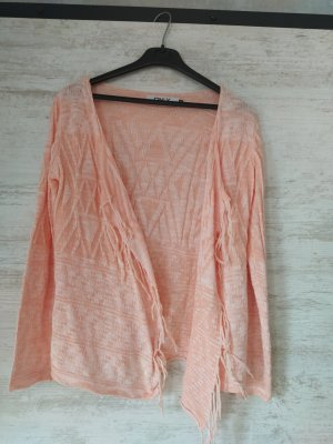Only Knitted Wrap Cardigan salmon cotton