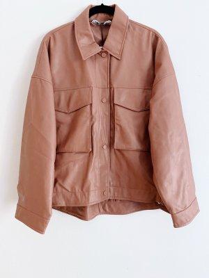 Lachsfarbenes Überhemd Zara