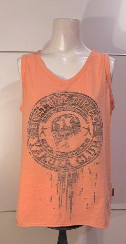 Yakuza Camisa de tirantes para hombres salmón-naranja