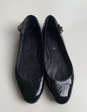 Burberry Patent Leather Ballerinas black-anthracite