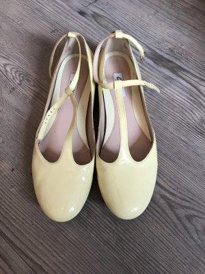 Clarks Patent Leather Ballerinas primrose-pale yellow