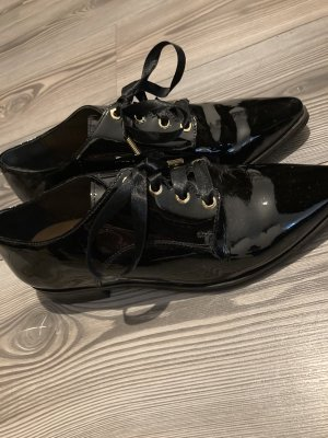 Lack Echtleder Budapester Schuhe