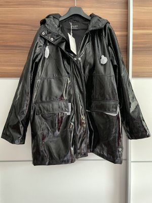Pull & Bear Leather Coat black