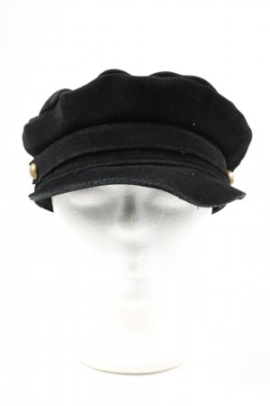Lack of Color Baker's Boy Cap black casual look