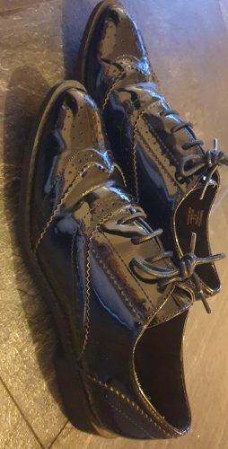 Lack- Schnürschuh Damen im Derby Style