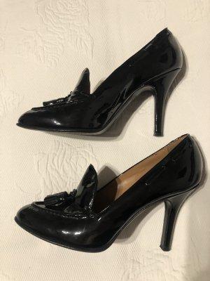Lack schwarze Schuhe
