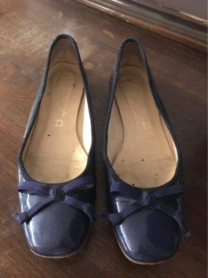 nisa Ballerina di pelle verniciata blu