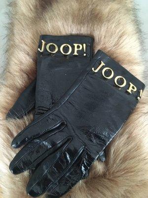 Joop! Rękawiczki skórzane czarny-złoto