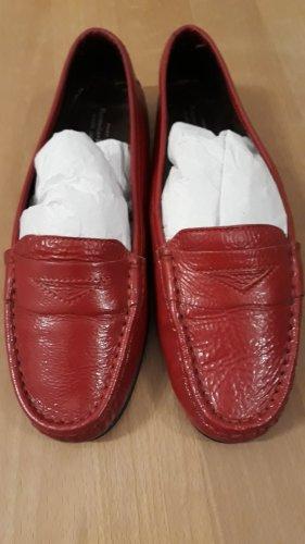 Mocassino rosso Pelle
