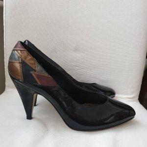 Alexis Zapatos de punta negro-color bronce